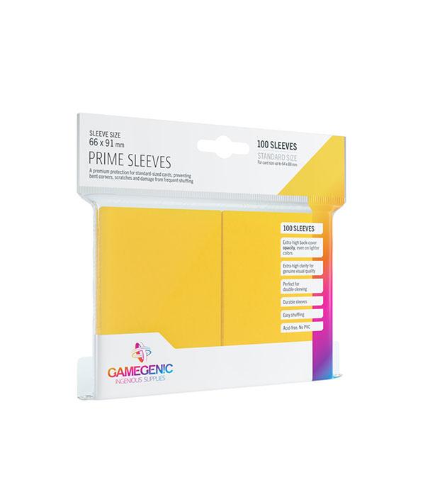 Prime Sleeve Amarelo - 100 unidades - 64 x 89mm - Gamegenic