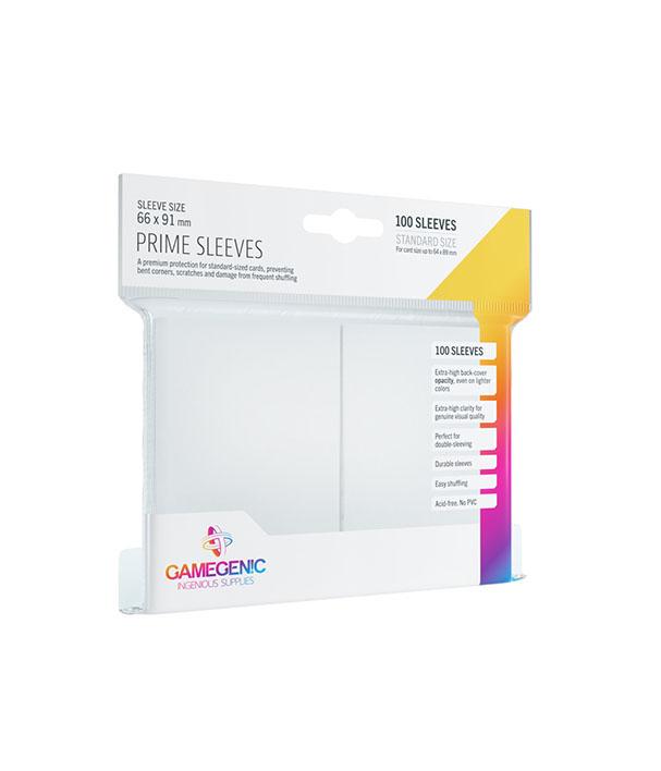 Prime Sleeve Branco - 100 unidades - 64 x 89mm - Gamegenic