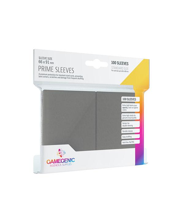 Prime Sleeve Cinza Escuro - 100 unidades - 64 x 89mm - Gamegenic
