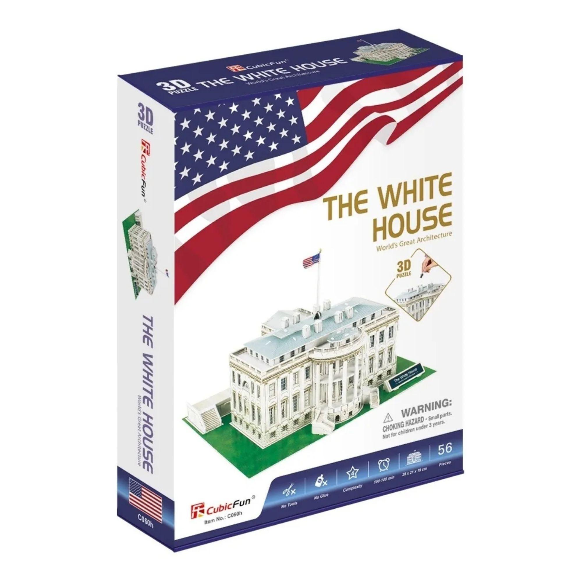 Quebra-cabeça 3D - A Casa Branca - 56 peças - CubicFun