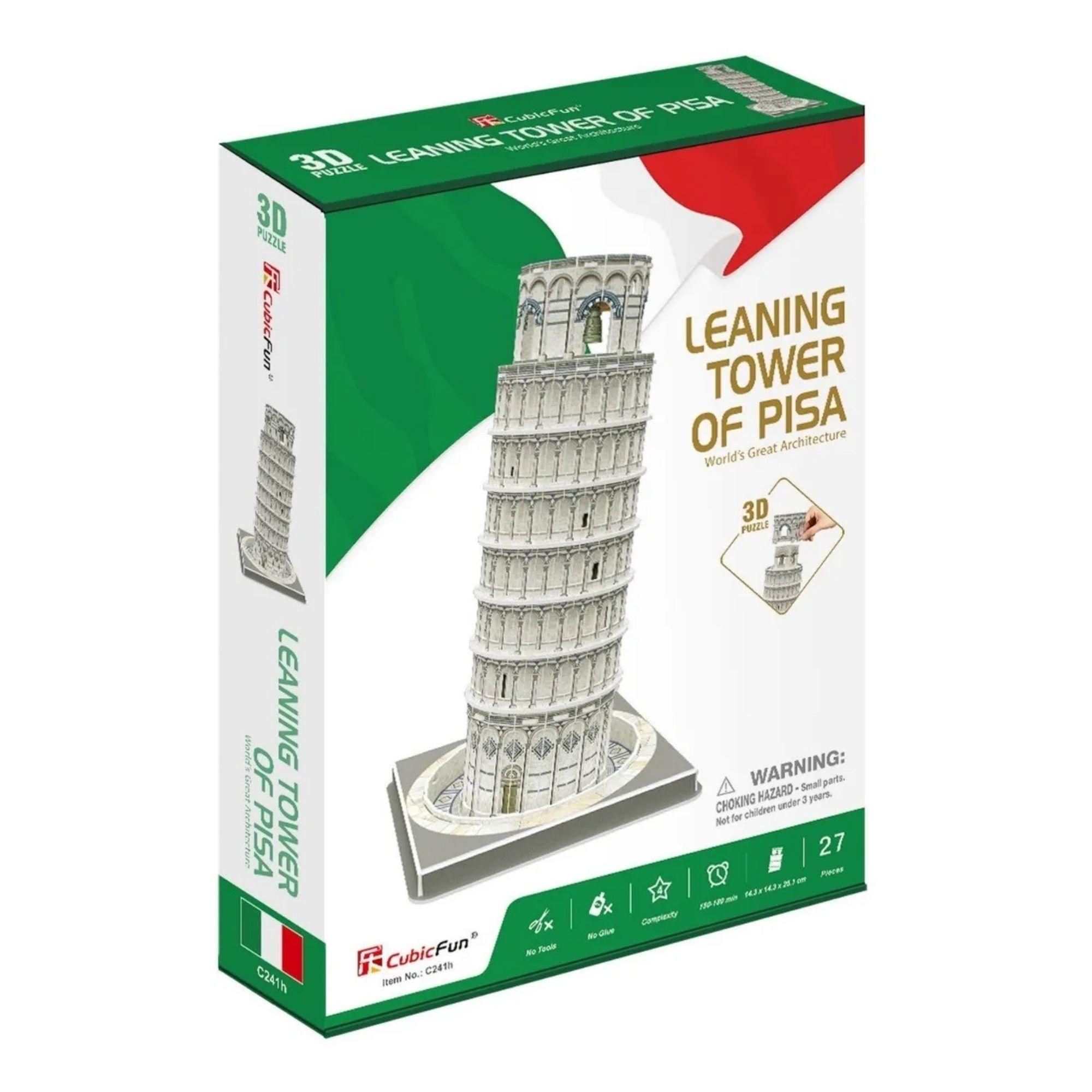 Quebra-cabeça 3D - Torre de Pisa - 27 peças - CubicFun