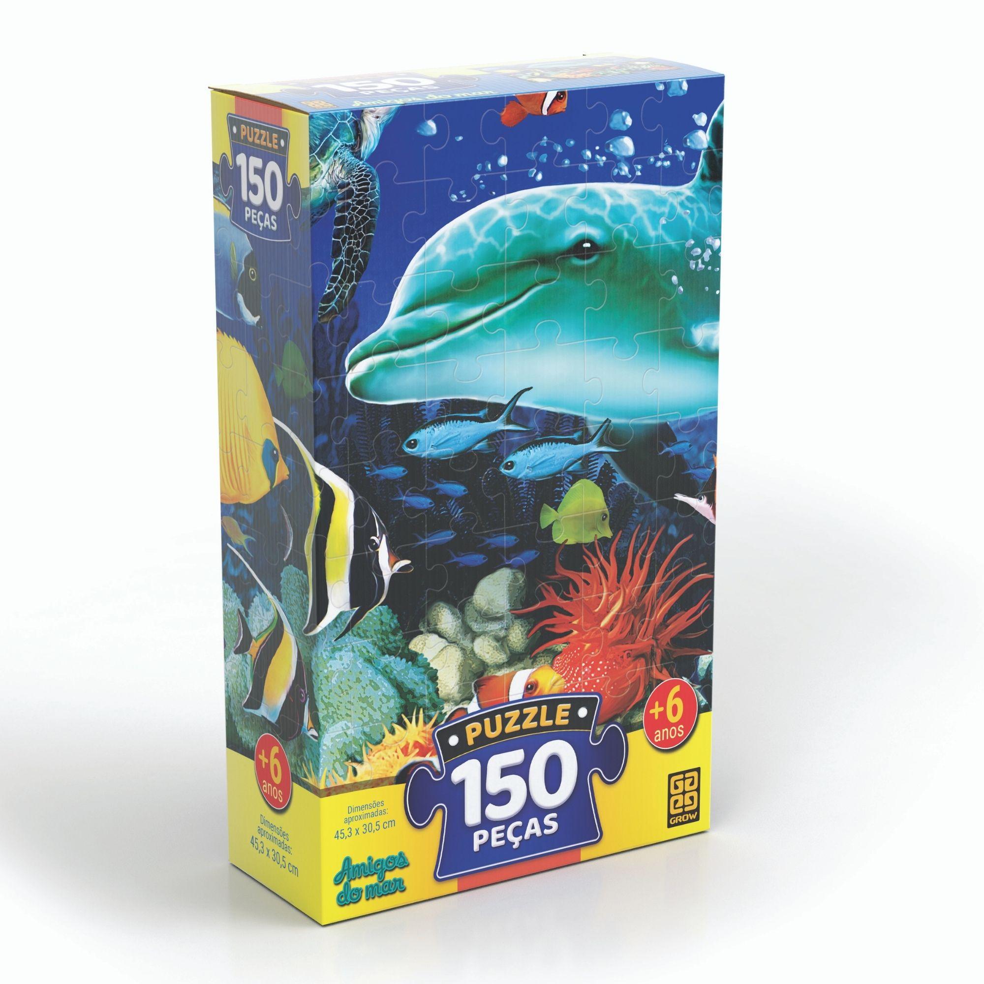 Quebra-Cabeça Amigos Do Mar 150 Peças - Grow