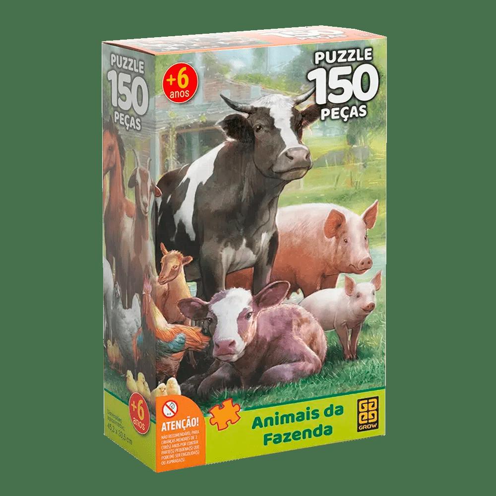 Quebra-Cabeça Animais da Fazenda 150 Peças - Grow