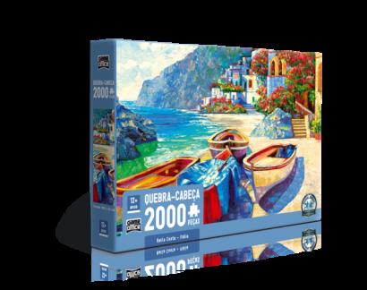 Quebra-Cabeça Bella Costa Itália 2000 peças - Game Office