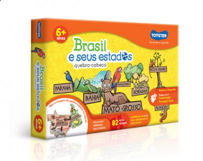 Quebra-Cabeça Brasil e seus Estados - 82 peças - Toyster