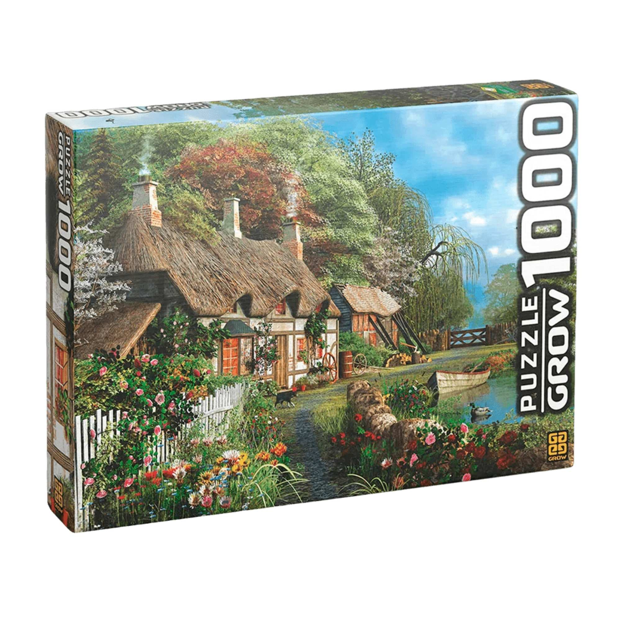 Quebra-Cabeça Casa no Lago 1000 Peças - Grow