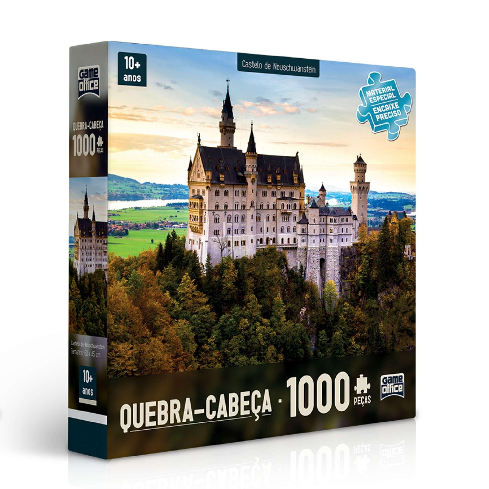 Quebra-Cabeça Castelo de Neuschwanstein 1000 peças - Game Office