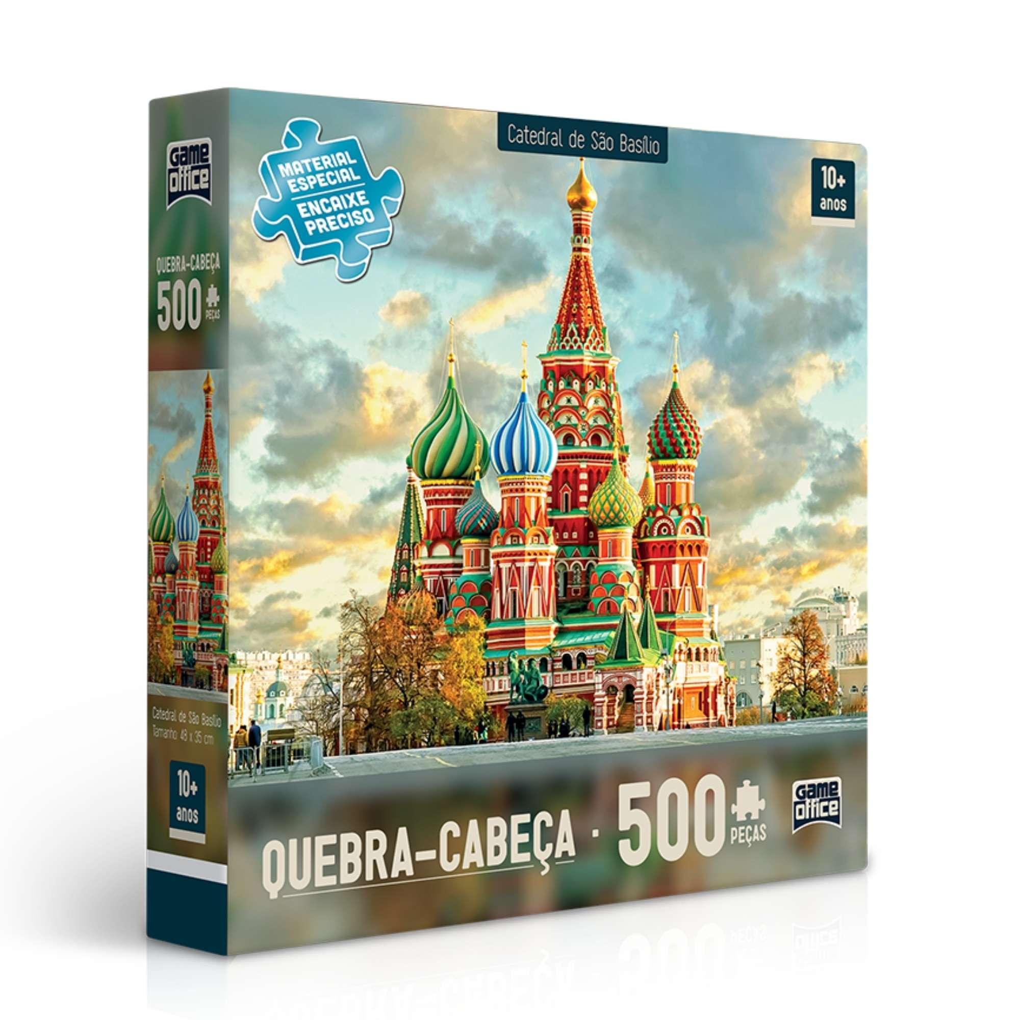 Quebra-cabeça Catedral de São Basílio - 500 peças - Game Office