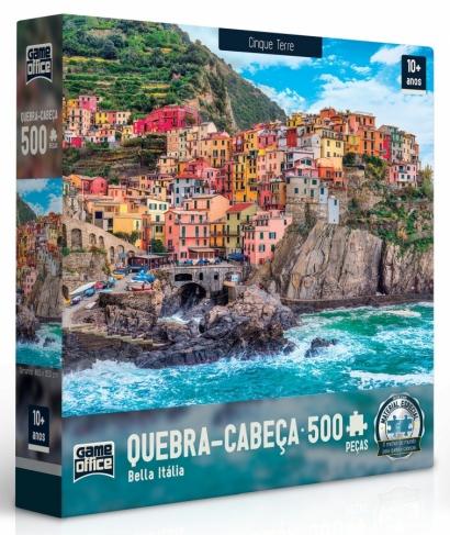 Quebra-cabeça Cinque Terre Bella Itália - 500 peças - Game Office