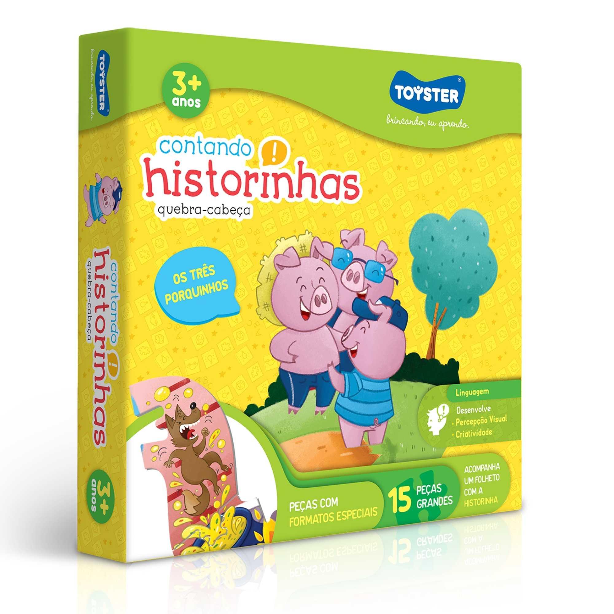 Quebra-Cabeça Contando Historinhas - 3 Porquinhos - Toyster
