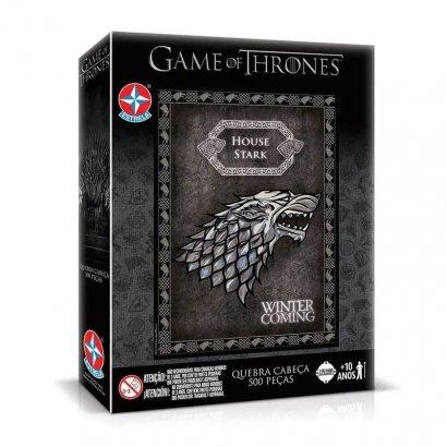 Quebra-cabeça - Game of Thrones House Stark 500 Peças - Estrela