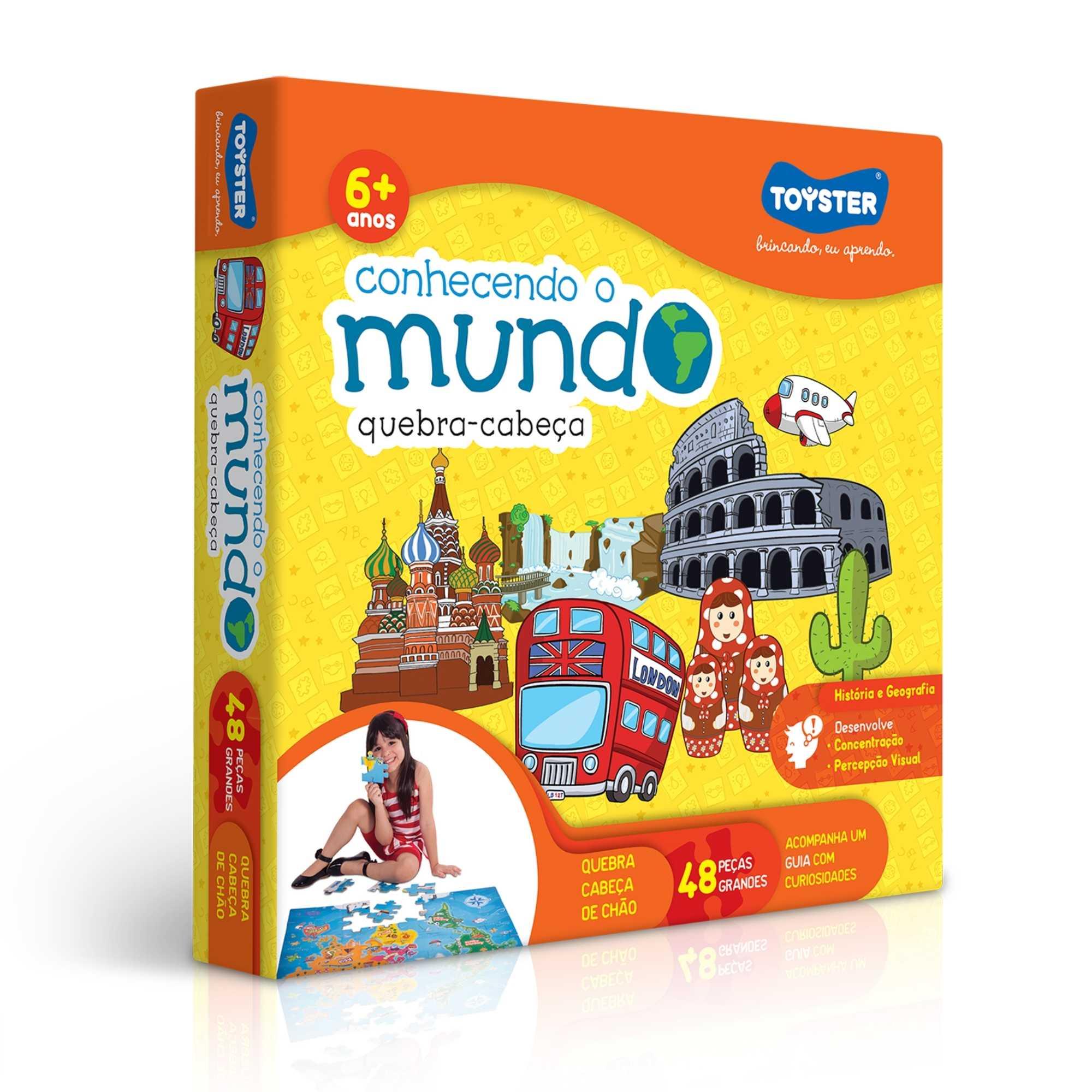 Quebra-Cabeça Grandão Conhecendo o Mundo 48 peças - Toyster