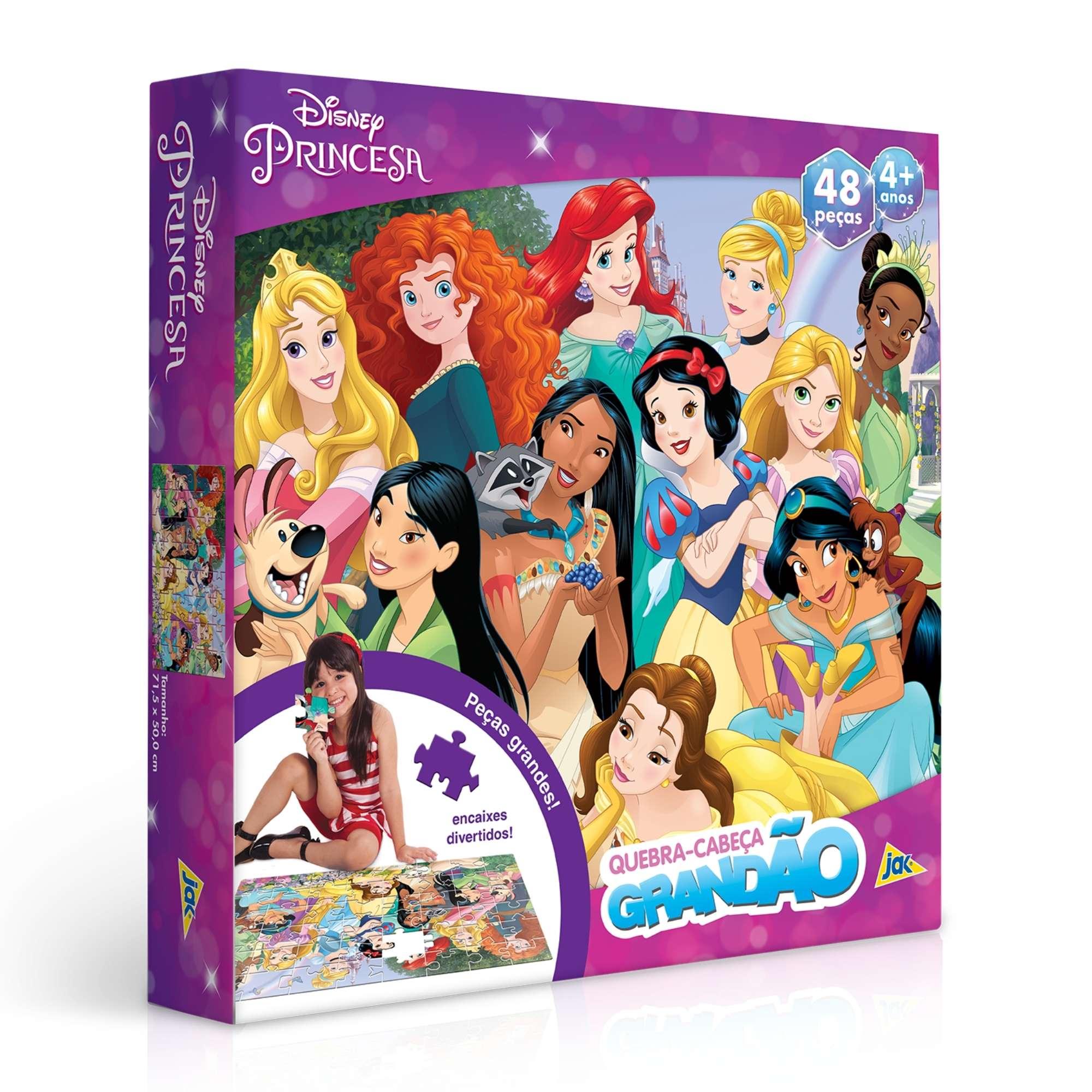 Quebra-Cabeça Grandão Disney Princesas 48 Peças