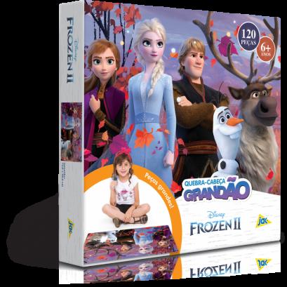 Quebra-Cabeça Grandão - Frozen II - 120 peças - Jak
