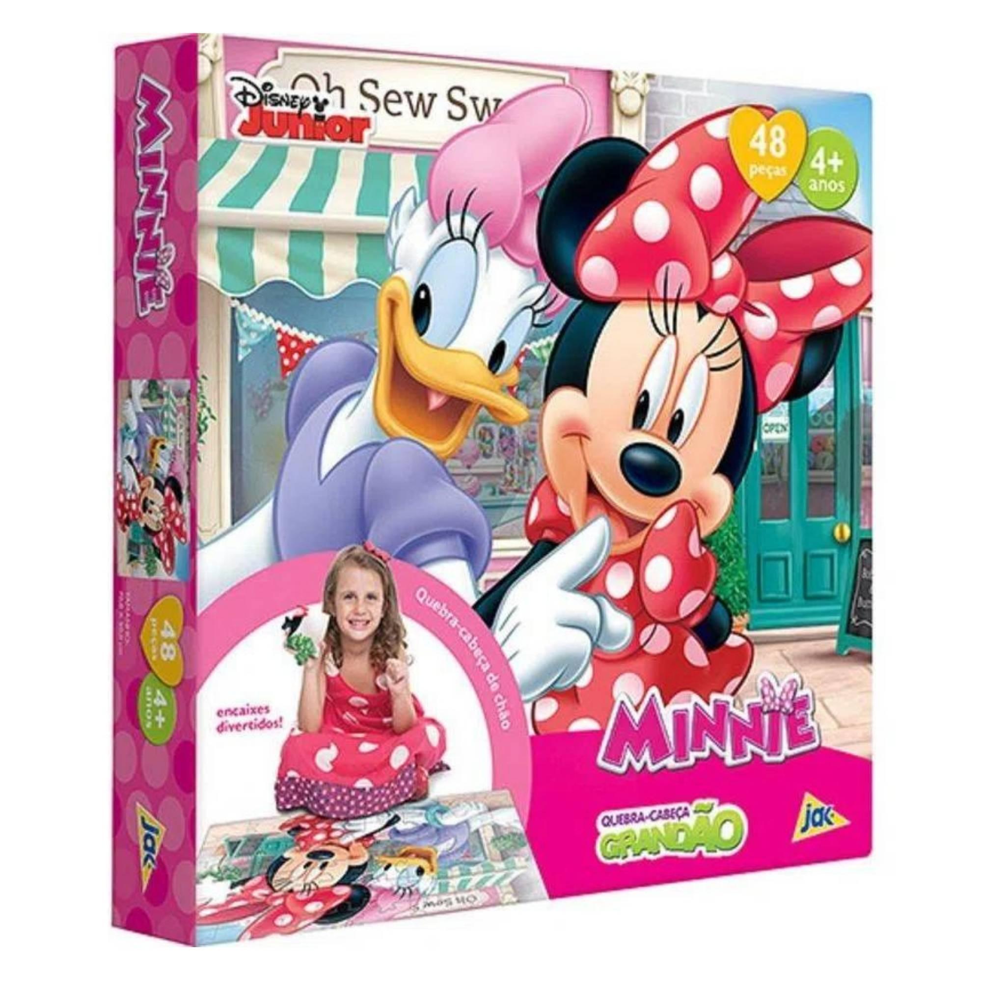 Quebra-Cabeça Grandão Minnie Boutique - 48 peças - Jak