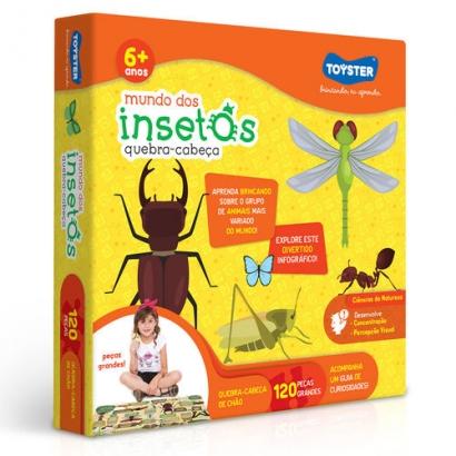 Quebra-Cabeça Grandão - Mundo dos Insetos - 120 peças - Toyster