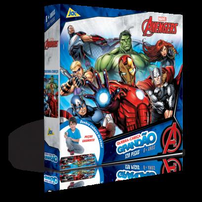 Quebra-Cabeça Grandão Os Vingadores 120 peças - Jak