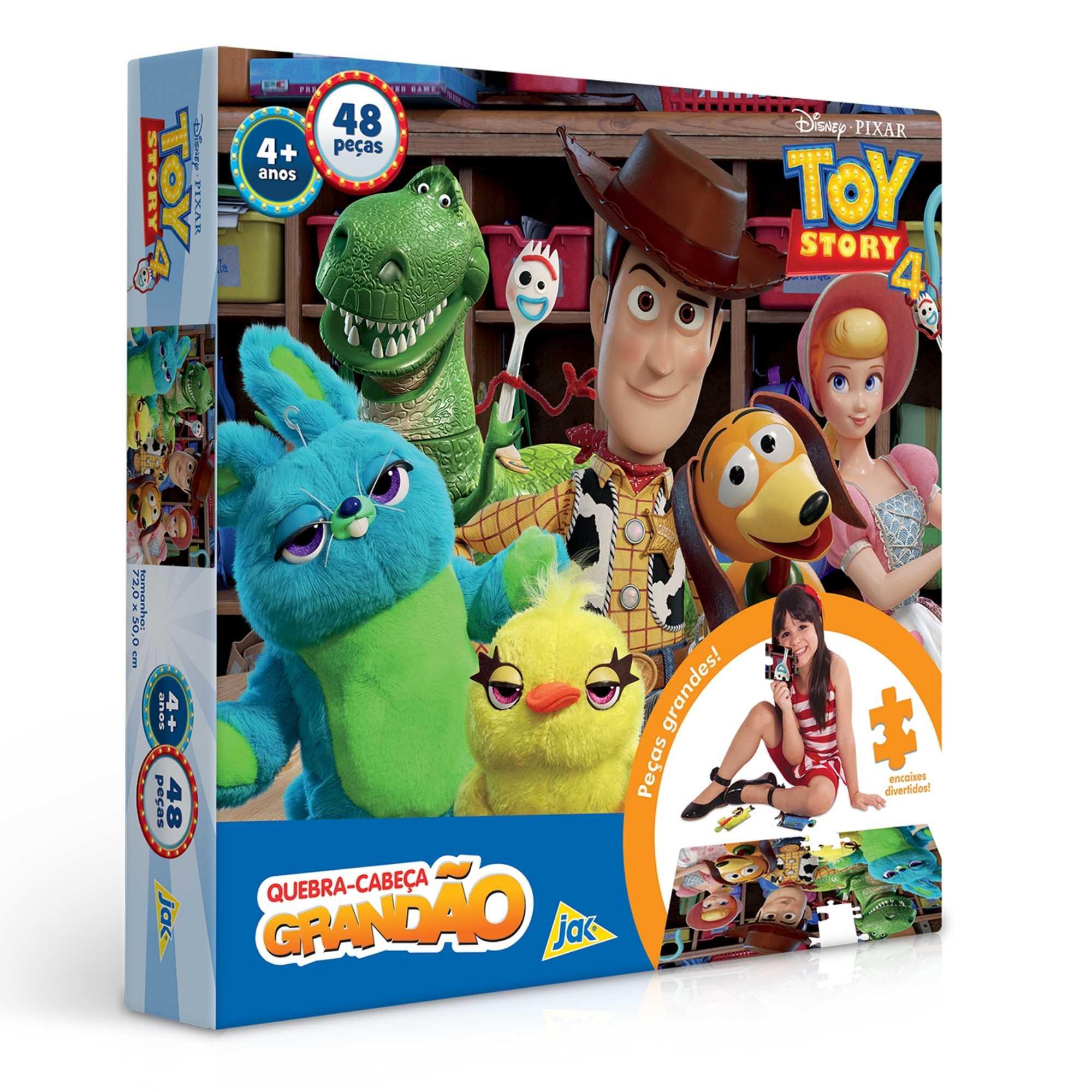 Quebra-Cabeça Grandão Toy Story 4 - 48 peças - Jak