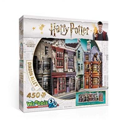 Quebra-cabeça Harry Potter - Beco Diagonal 3D - Galápagos Jogos