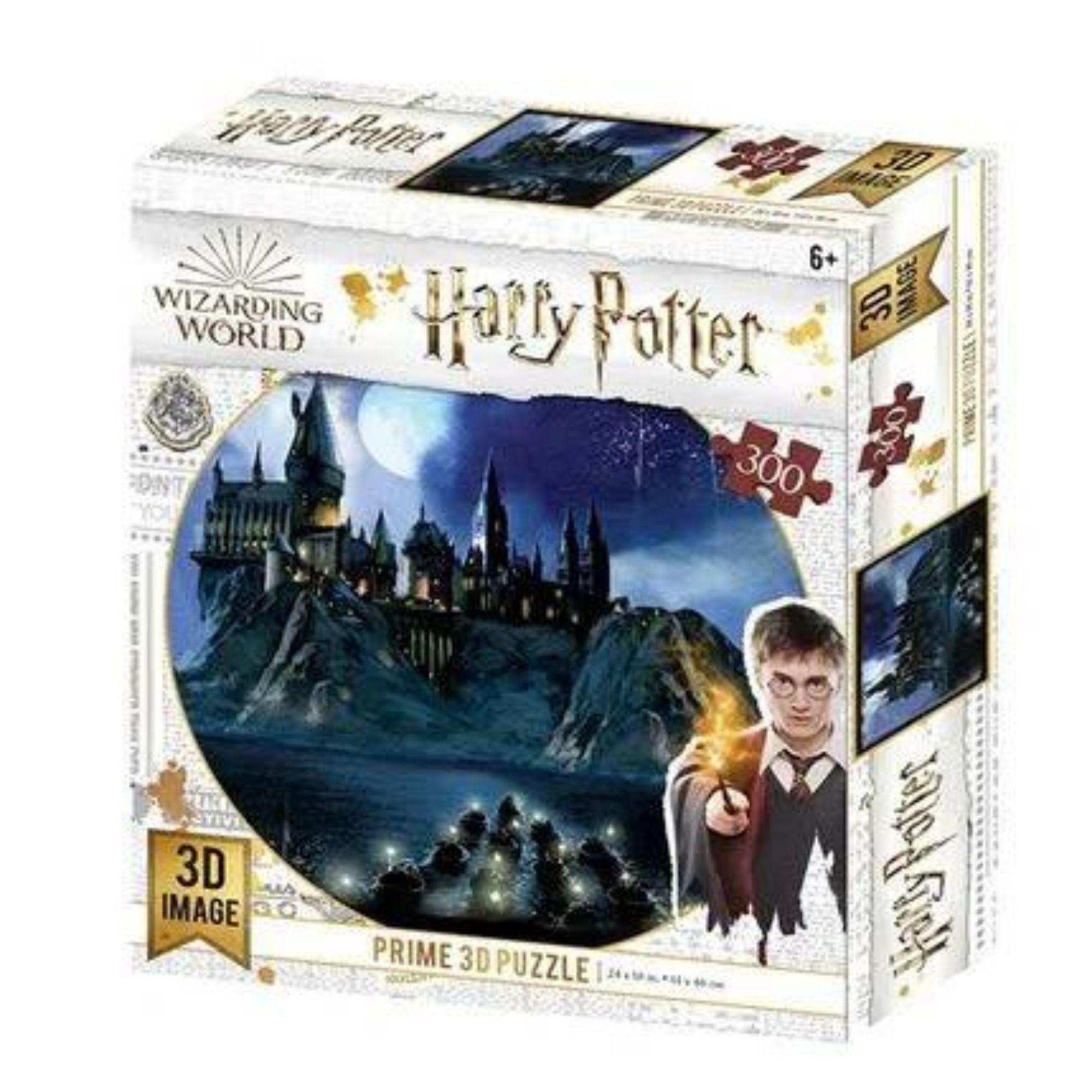 Quebra-cabeça Holográfico Castelo de Hogwarts Harry Potter 300 Peças