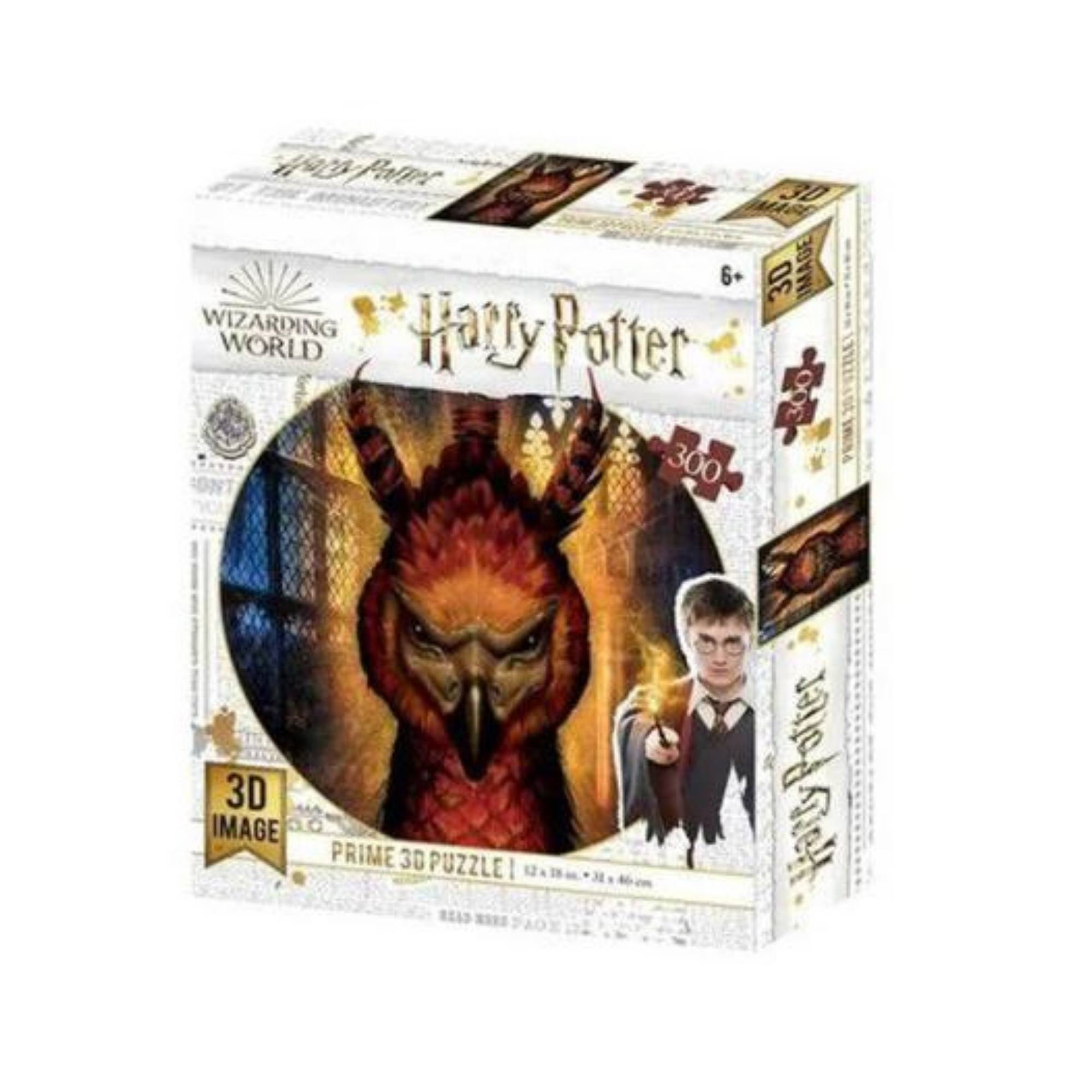 Quebra-cabeça Holográfico Fênix Harry Potter 300 Peças - Multikids