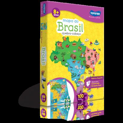 Quebra-Cabeça Mapa do Brasil 100 Peças