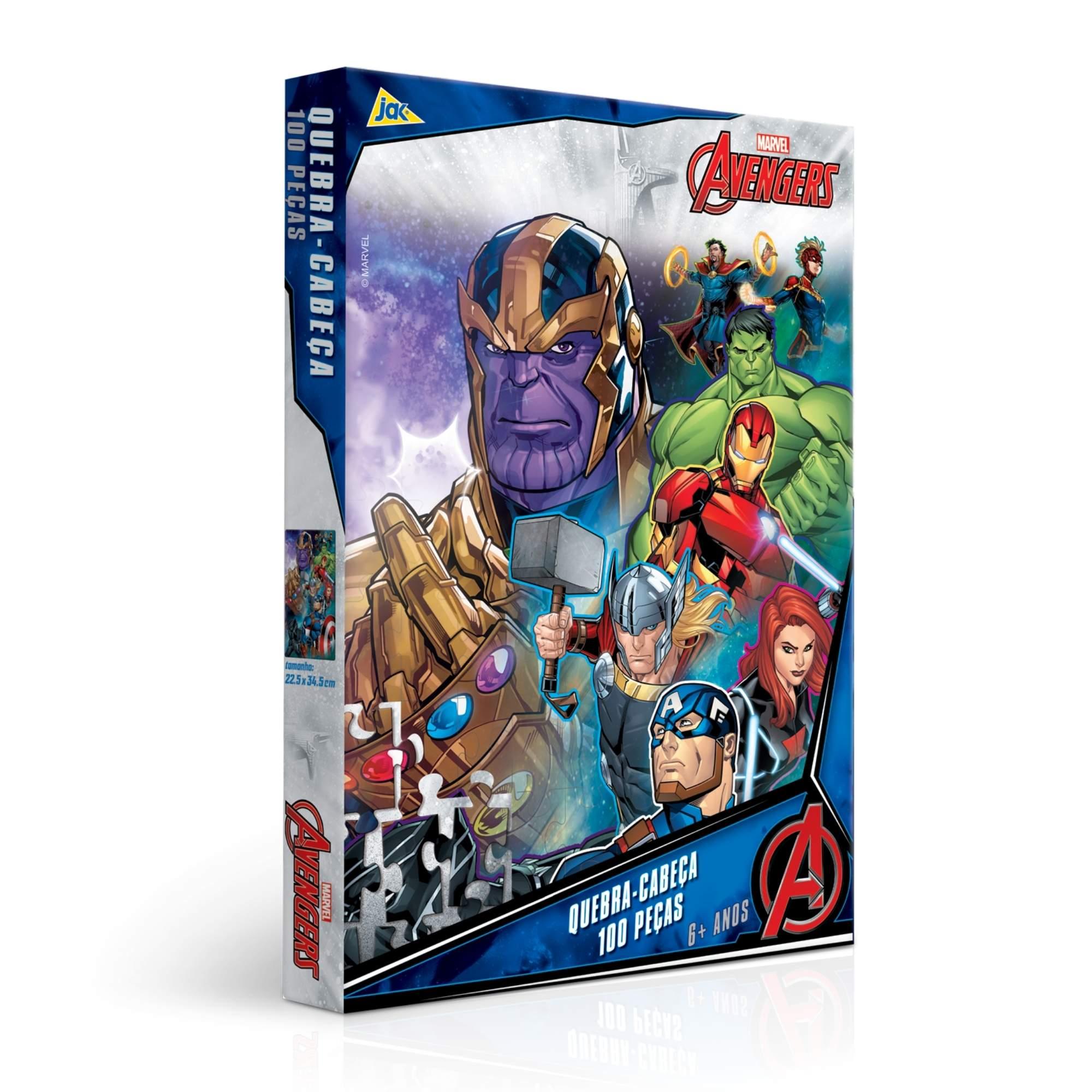 Quebra-Cabeça Marvel Avengers Os Vingadores 100 Peças
