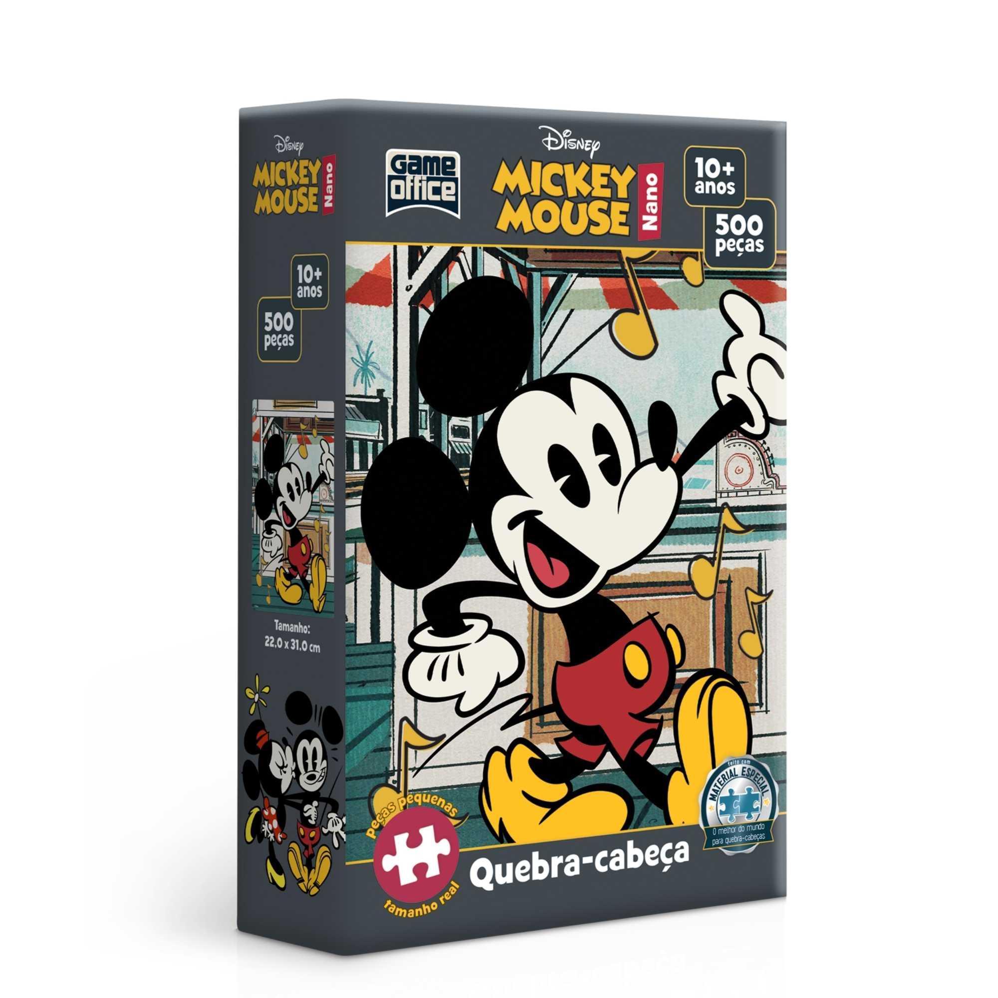 Quebra-Cabeça Mickey Mouse Notas Musicais 500 peças nano - Game Office
