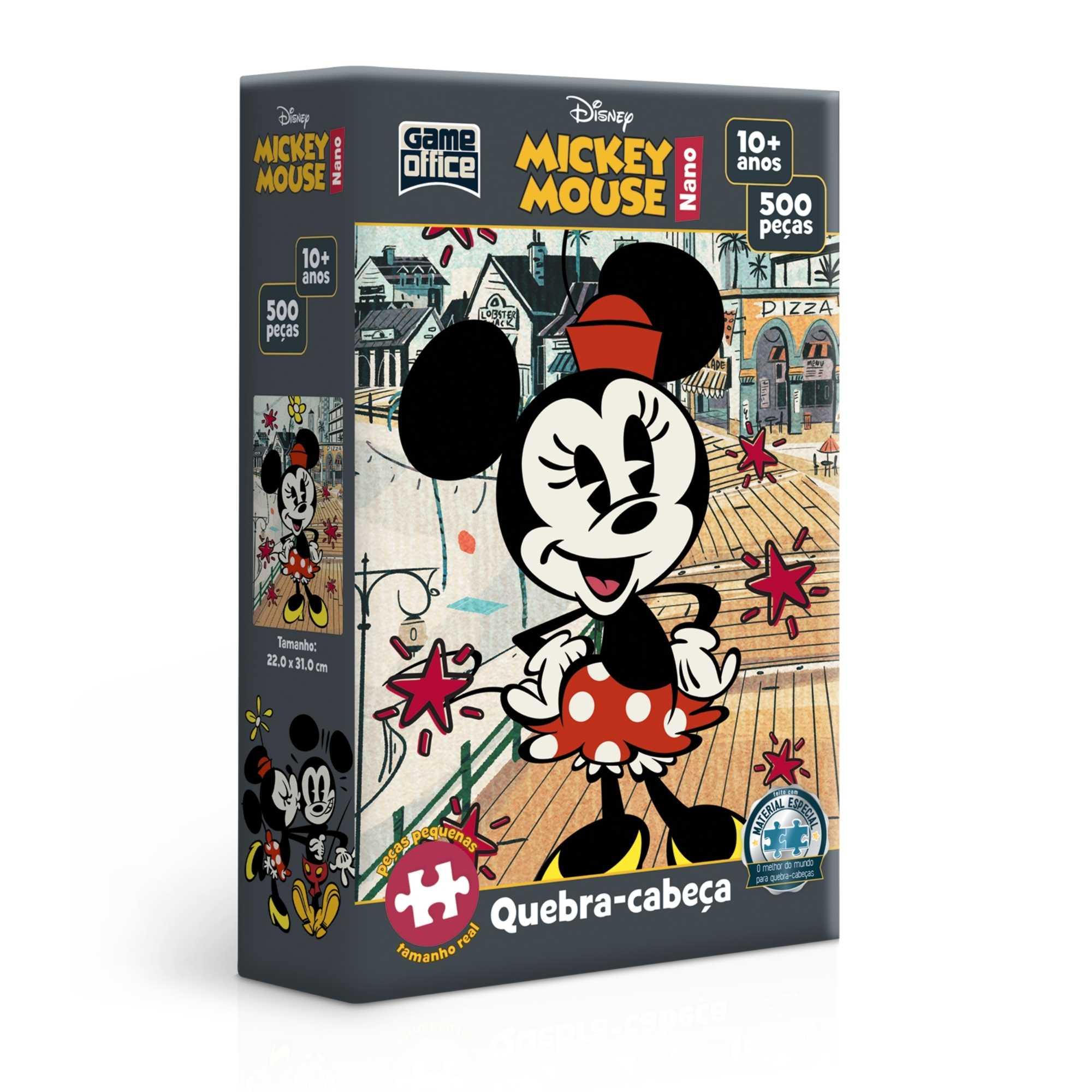 Quebra-Cabeça Minnie Mouse 500 peças nano - Game Office