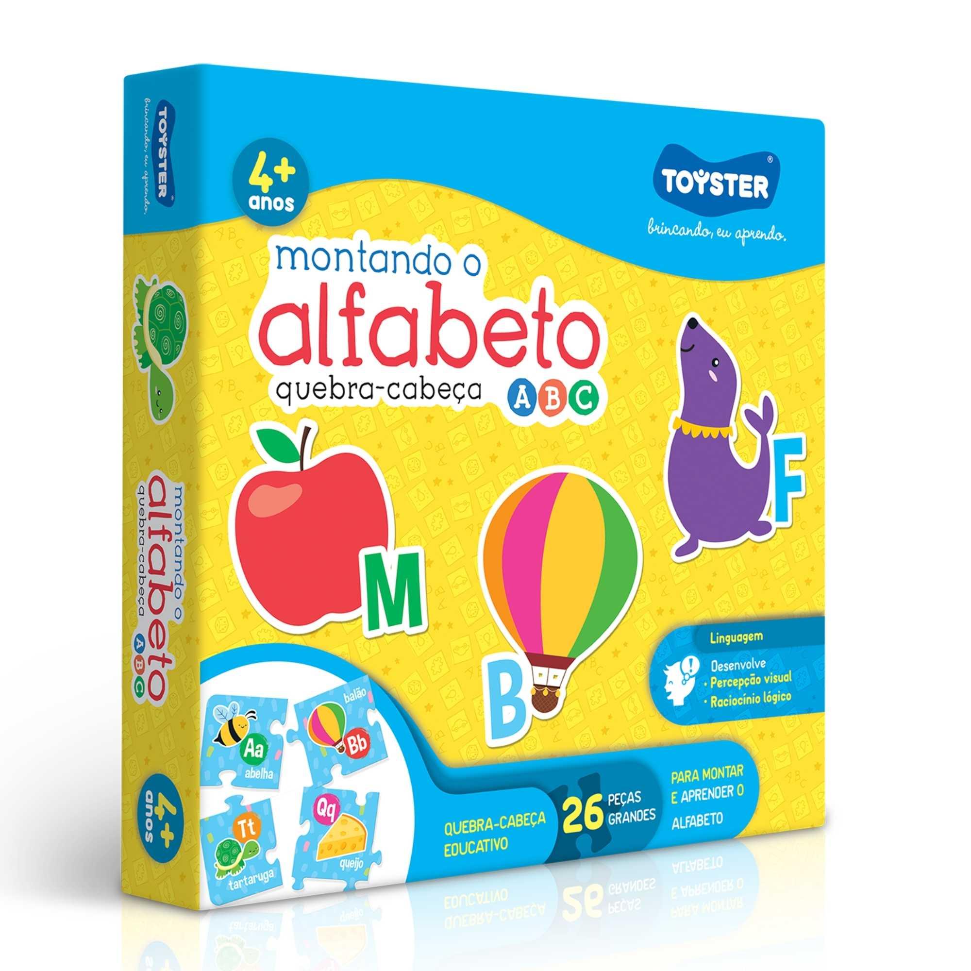 Quebra-Cabeça Montando o Alfabeto 26 peças - Toyster