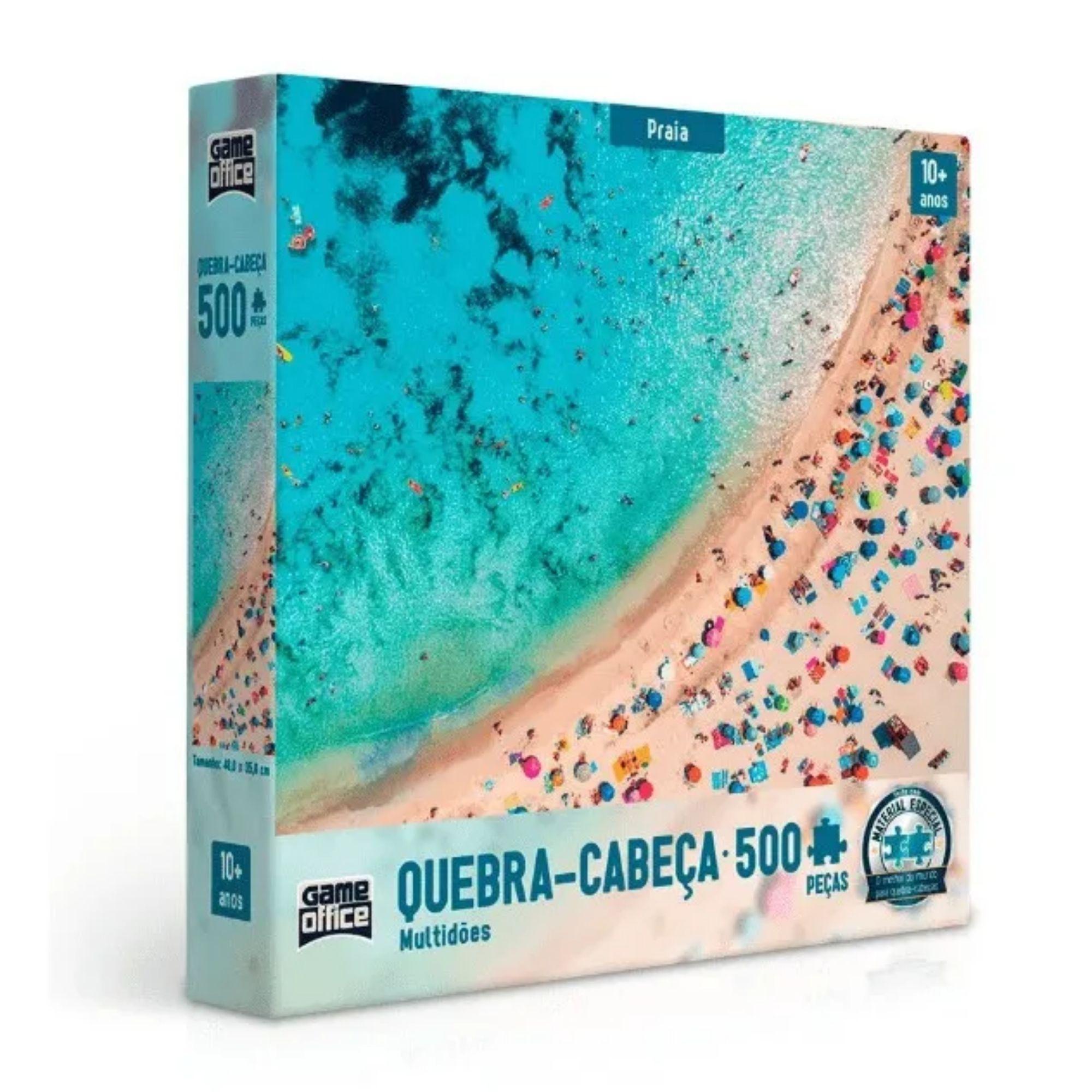 Quebra-cabeça Multidões - Praia - 500 peças - Game Office