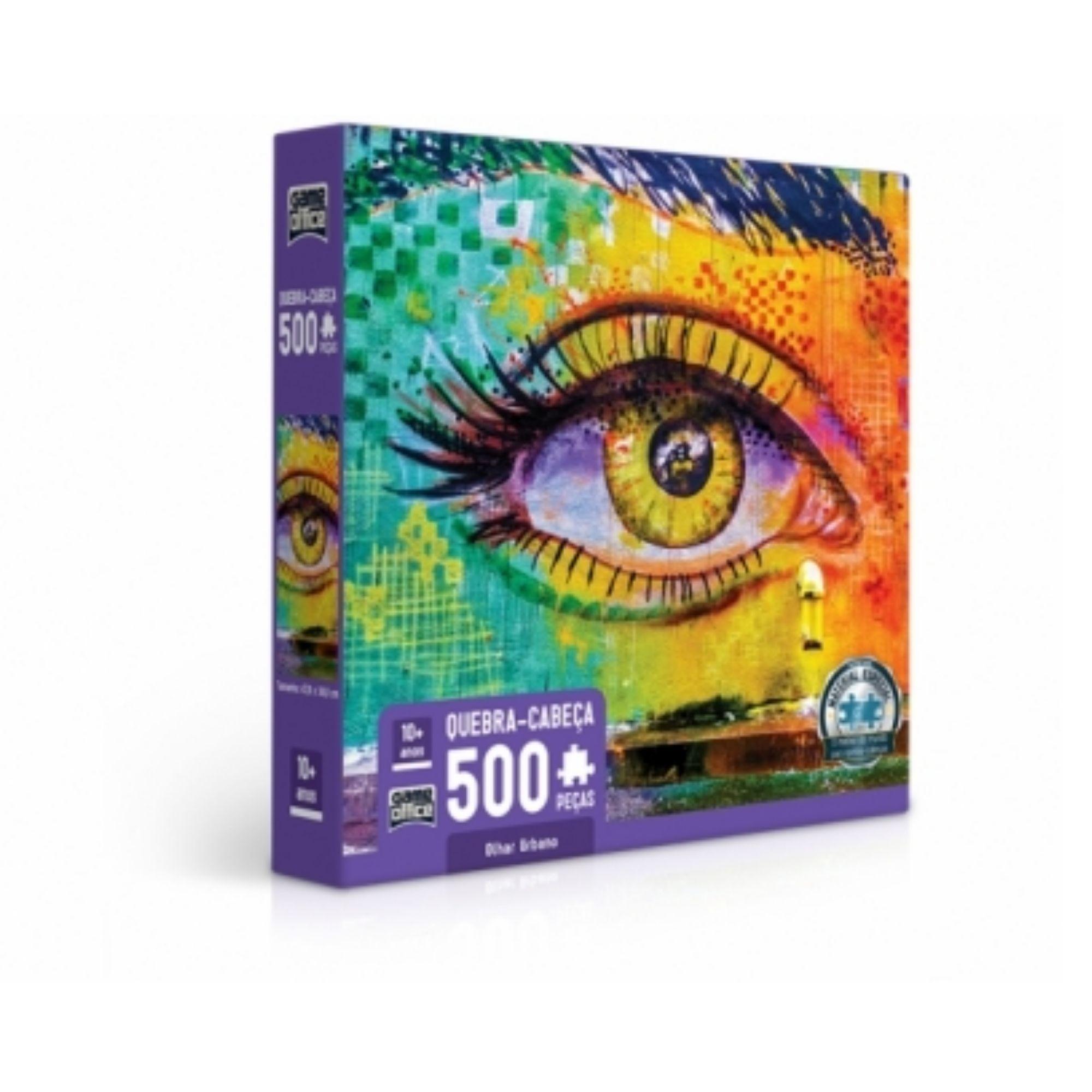 Quebra-cabeça Olhar Urbano - 500 peças - Game Office