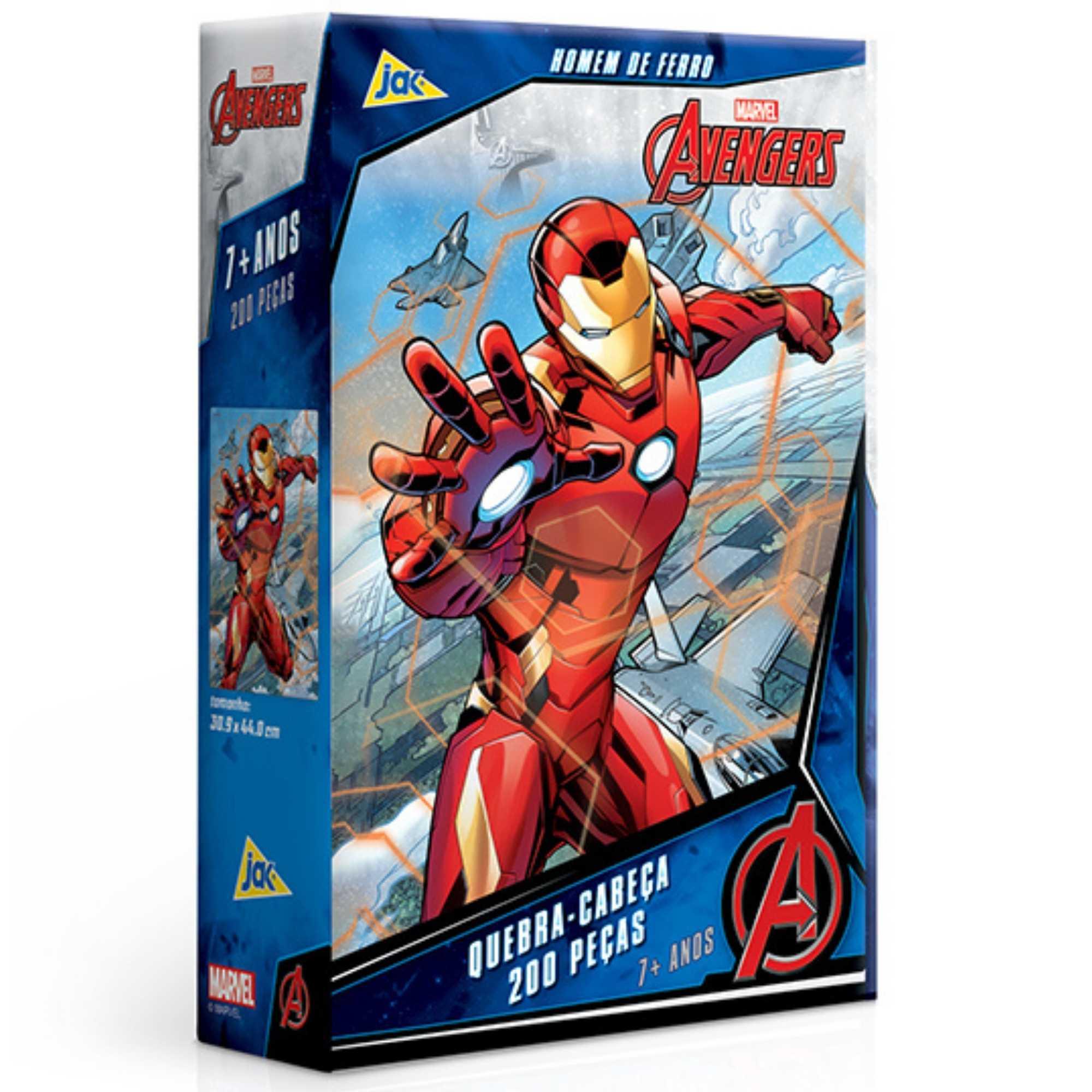 Quebra-Cabeça Os Vingadores Homem de Ferro 200 peças - Jak