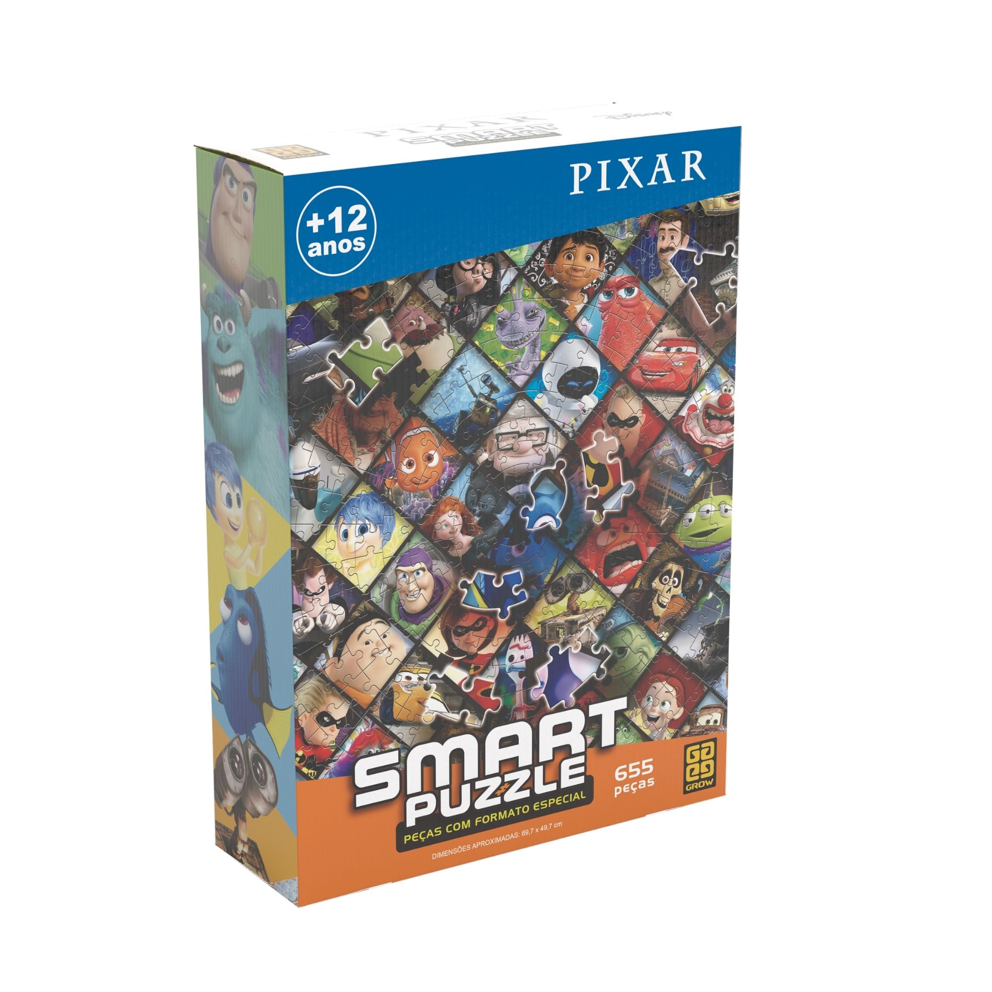 Quebra-Cabeça Pixar - Smart Puzzle 655 Peças - Grow