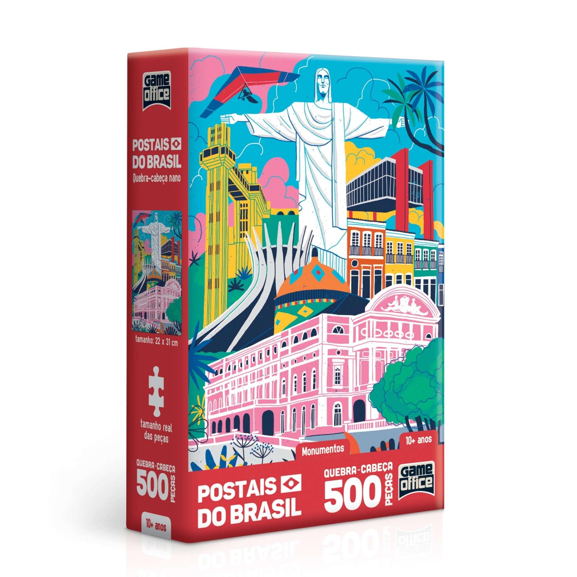 Quebra-Cabeça Postais do Brasil - Monumentos - 500 peças nano - Game Office