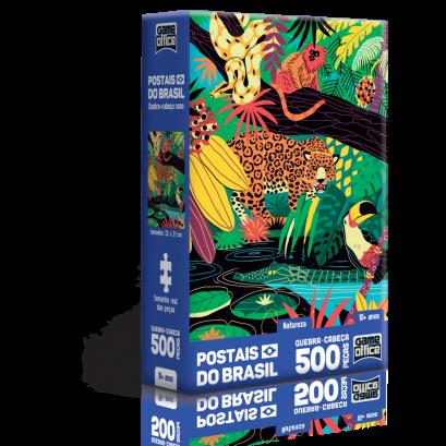 Quebra-Cabeça Postais do Brasil - Natureza - 500 peças nano - Game Office