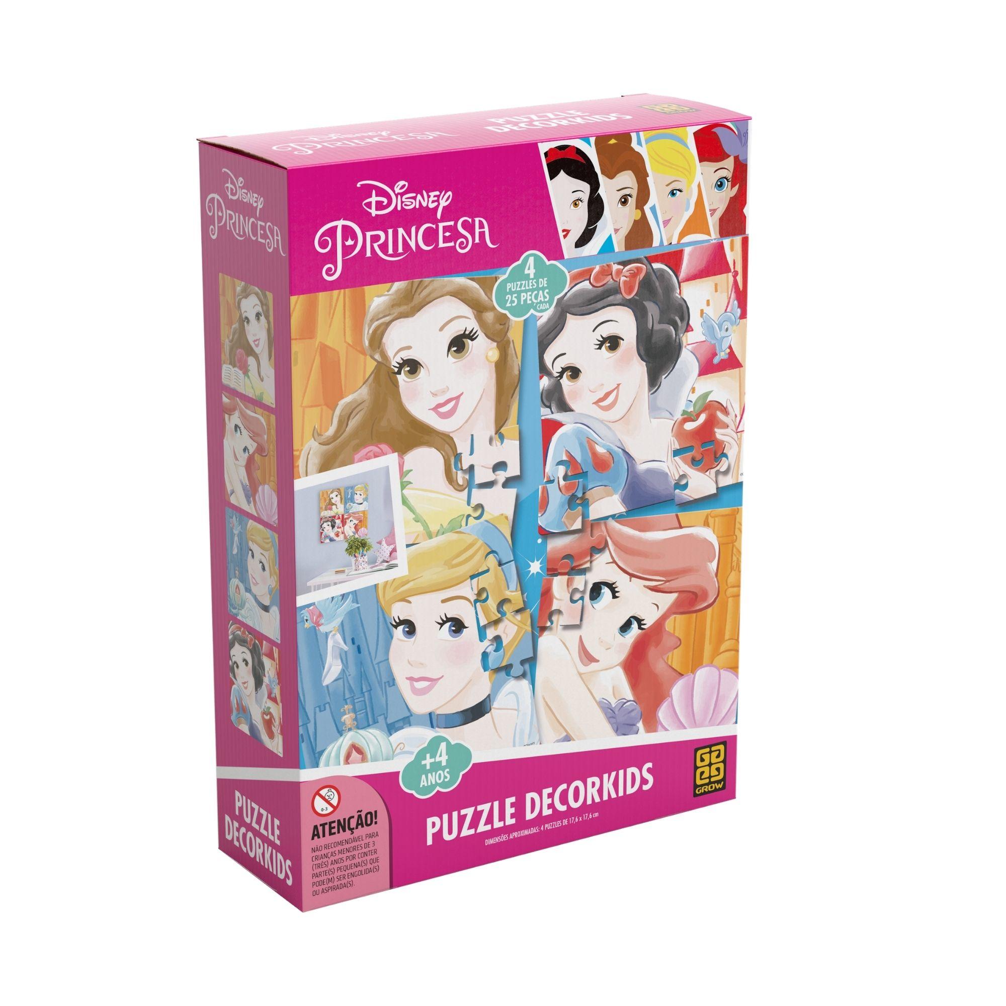Quebra-Cabeça Princesas Decorkids - Grow
