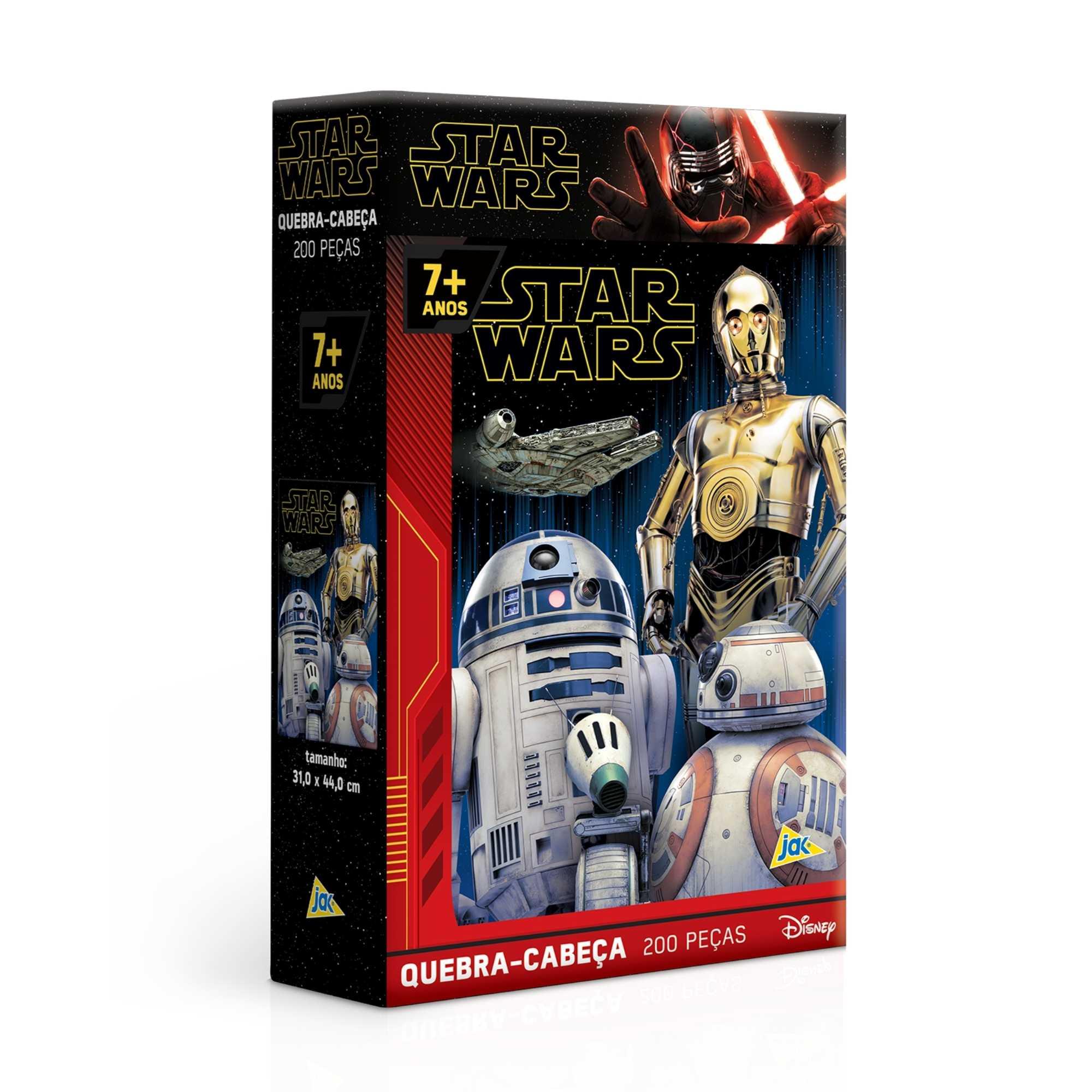 Quebra-cabeça Star Wars Ascensão Skywalker Droides 200 peças - Game Office