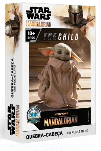 Quebra-Cabeça Star Wars The Mandalorian - The Child Baby Yoda - 500 peças nano - Toyster