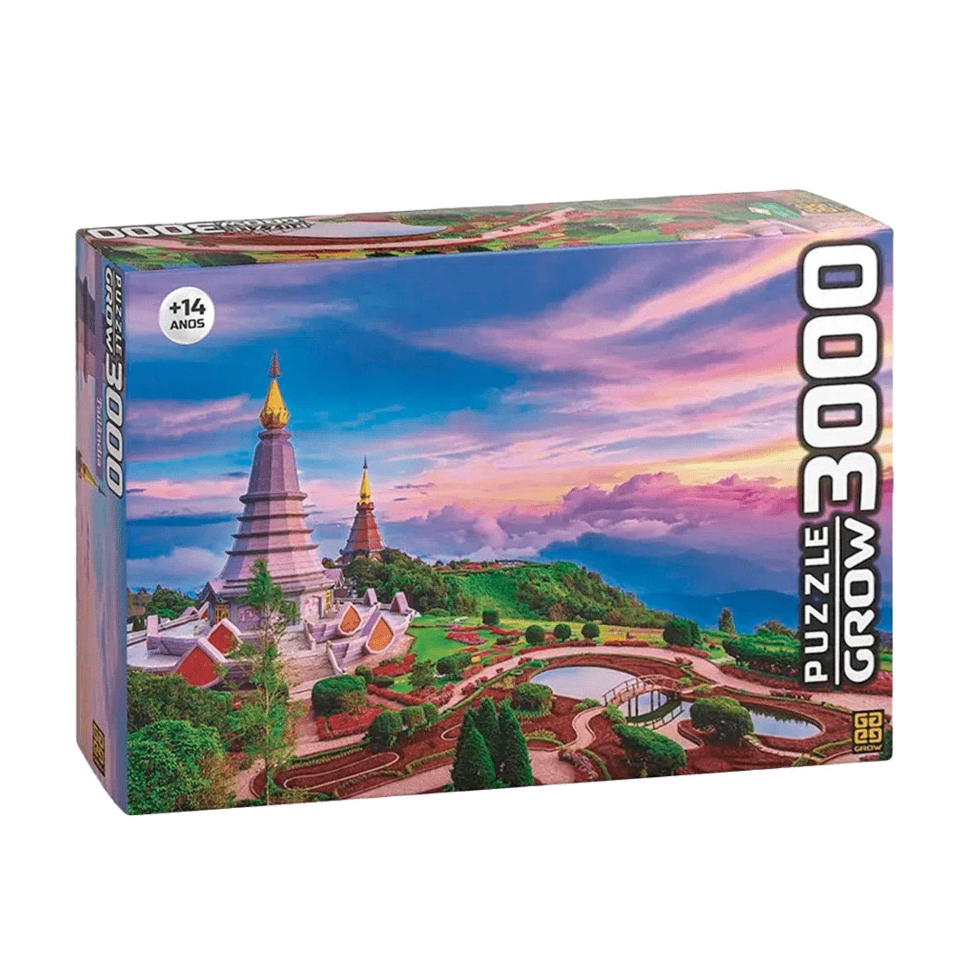 Quebra-cabeça Tailândia - 3000 peças - Grow