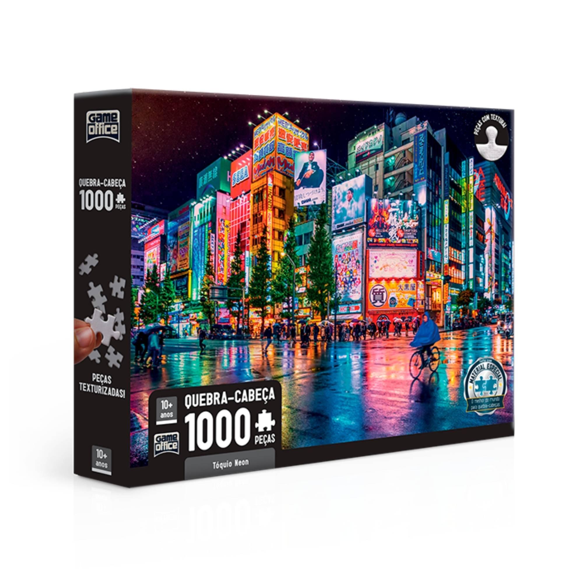 Quebra-Cabeça Tóquio Neon 1000 Peças