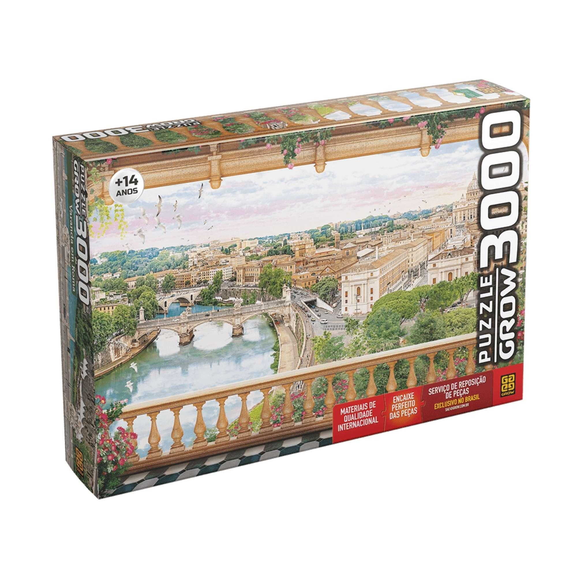 Quebra - Cabeça - Varanda em Roma - 3000 peças - Grow