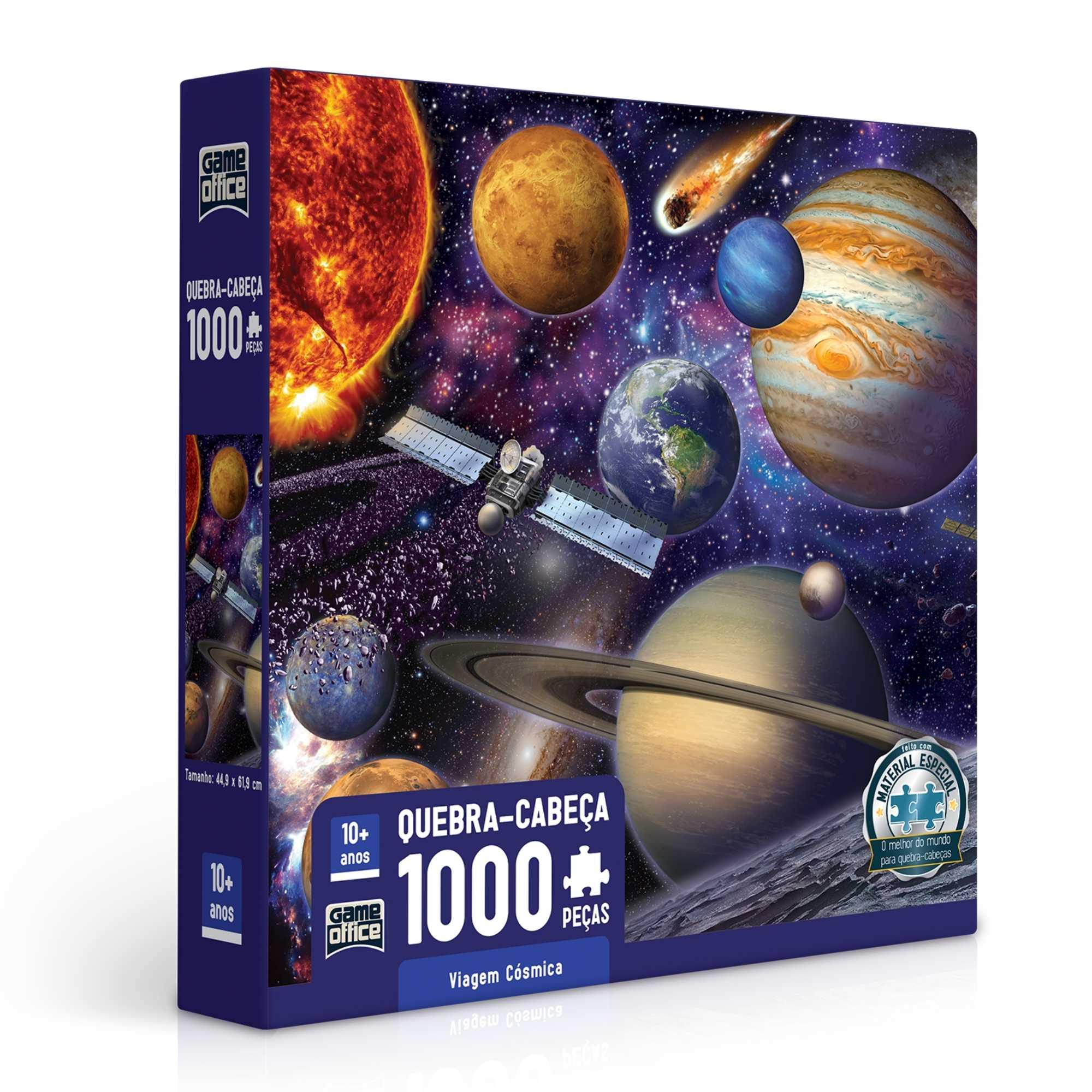 Quebra-Cabeça Viagem Cósmica 1000 peças - Game Office