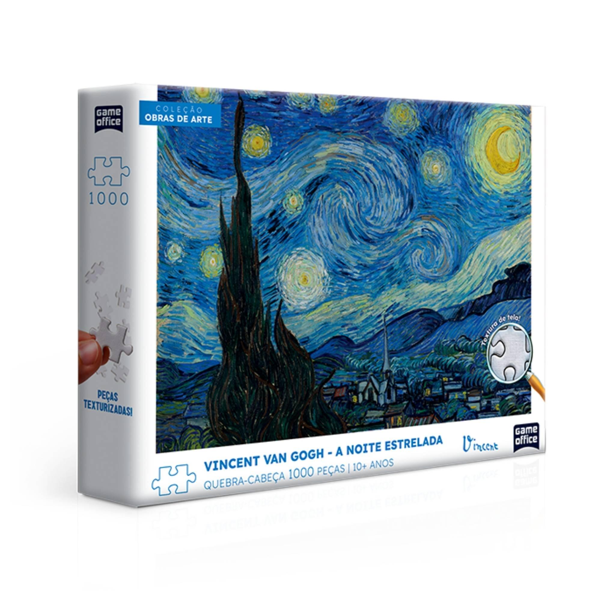 Quebra-Cabeça Vincent Van Gogh A Noite Estrelada 1000 Peças