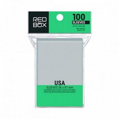 Standard USA 56mm x 87mm - 100 unid - Board Game Shield Protetor - RedBox