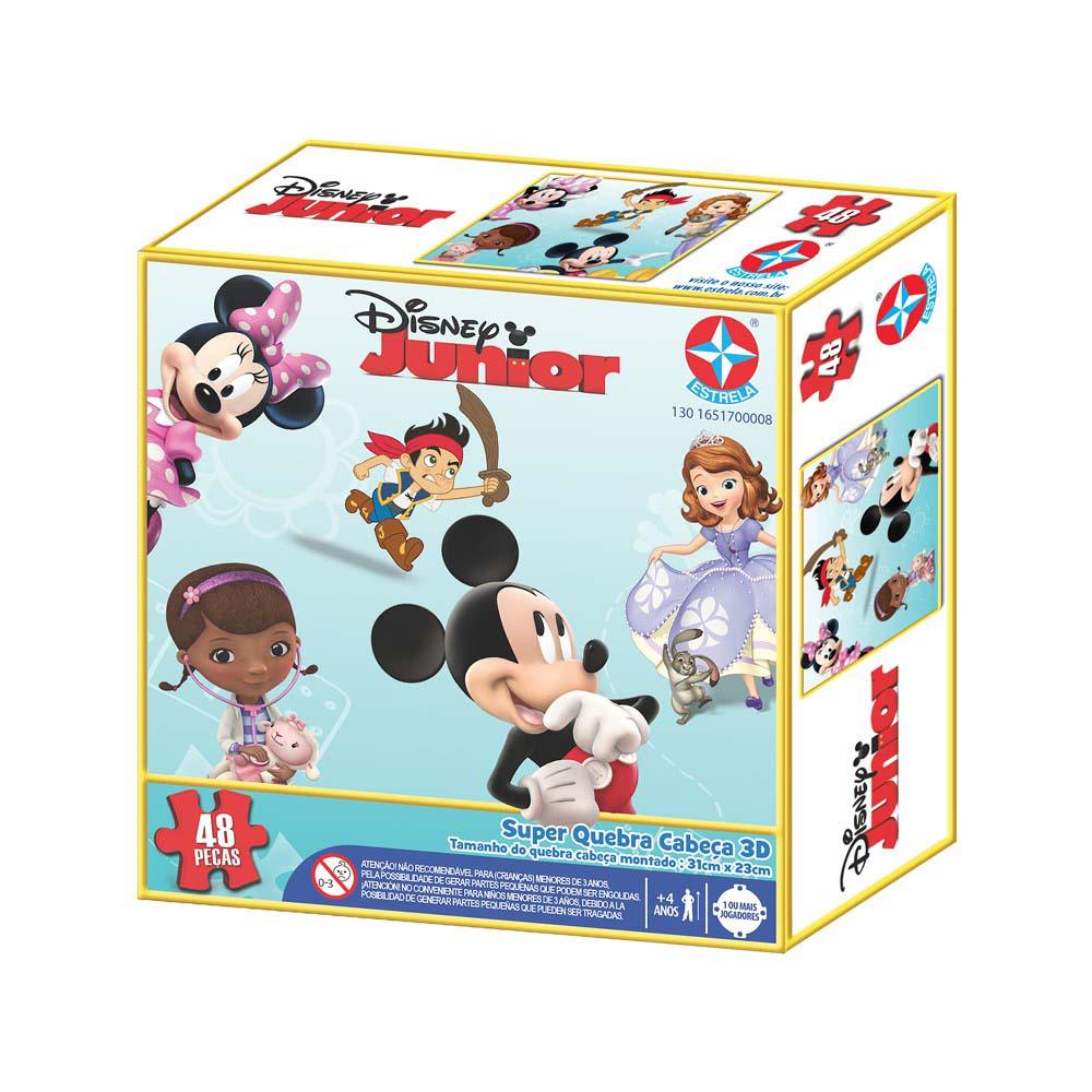 Super Quebra-Cabeça 3D Disney Jr - Estrela