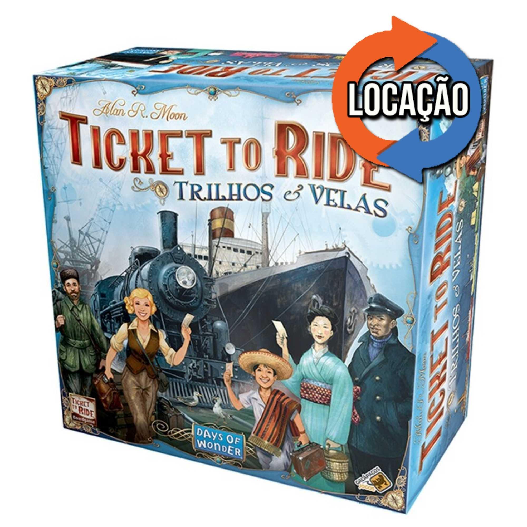 Ticket to Ride Trilhos e Velas (Locação)