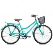 Bicicleta Status Aro 26 Panda c/ Cesta 1V V-Brake Azul Tok Stok