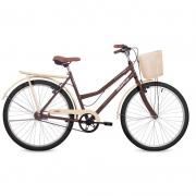 Bicicleta Status Aro 26 Panda c/ Cesta 1V V-Brake Marrom