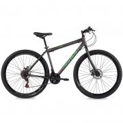 Bicicleta Status Big Evolution Aro 29 21V Disk Brake Preto Brilhante/Verde